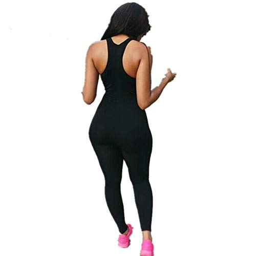 Globaltrade001 Mujer Chándal Traje Deportivo Mono Yoga Set Gym Fitness Set Ropa Deportiva Conjunto Una Pieza Vestimenta para Correr S