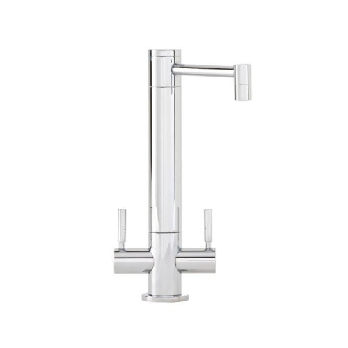 Waterstone 2500-SC Hunley Bar Faucet Double Handle, Satin Chrome