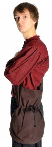 HEMAD Mittelalter Tasche Baumwolle braun Mittelalterliche Kleidung