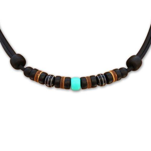 HANA LIMA ® Lederkette ohne Anhänger Halskette Leder Herren Damen Surferkette