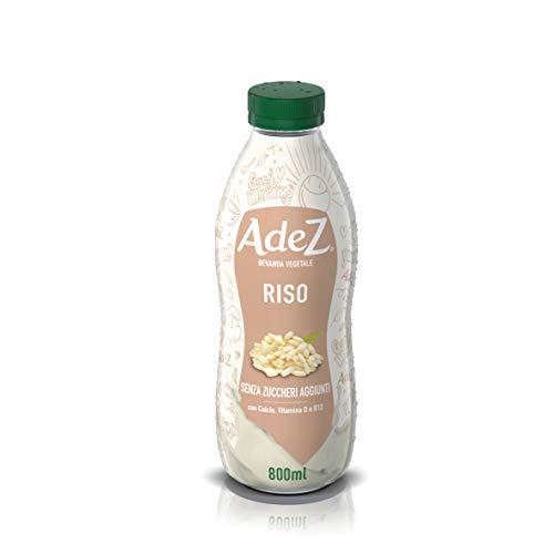 12 Flaschen x AdeZ Pflanzendrink, Soja, Mandel, Hafer, Milch, 800 ml (Rockin Rice (Reis))