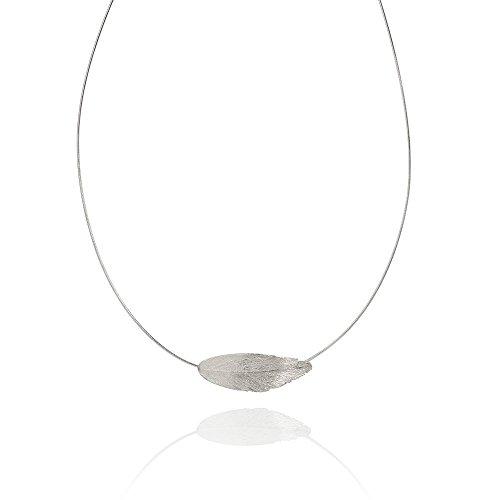 RAVEN-Halskette, aus Sterlingsilber, mit steifer Kette, Design aus Island, von AURUM By Guðbjörg, Reykjavik