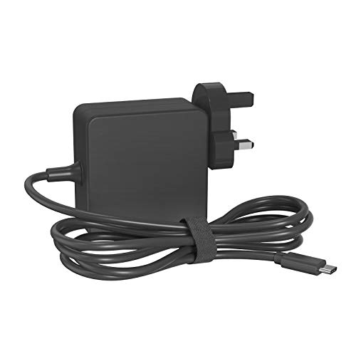 PD 65W Charger with GaN Tech, USB-C/Type-C AC Adapter for Macbook Pro, HP Pavilion, HP ENVY x360, HP Elite X2, HP Spectre13/15/Pro, Lenovo Flex 11, Asus VivoBook, Microsoft Surface Pro 5 power supply