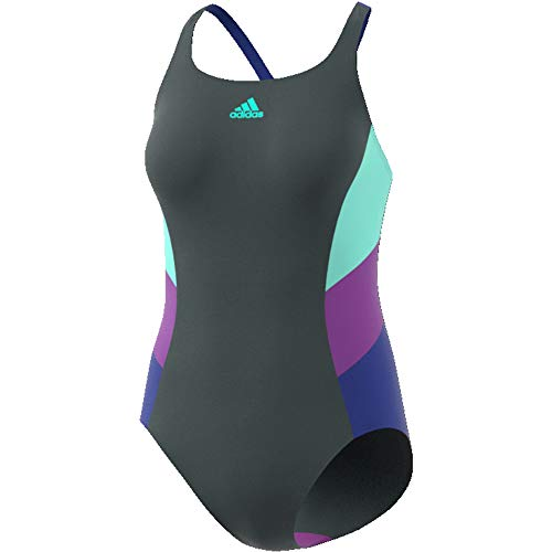 adidas Performance Womens Colour Block One Piece Swimming Costume - 32