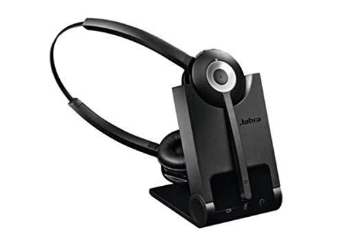 Jabra Pro 920 Duo nutzerfreundliches DECT-Office-Headset für Festnetztelefone, hohe Reichweite, Geräuschunterdrückung, Ladeschale inkl.