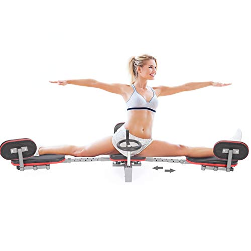 Weanas 2021 New Upgraded Leg Stretcher Machine Length Adjustable 26''-37'' Heavy Duty Leg Stretching Training Machine for Home Gym