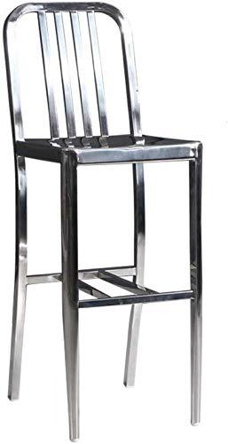 YLCJ RVS barkruk Barkruk Rugleuning Smeedijzeren barkruk Barkruk Kinderstoel Receptiestoel Hoge kruk Barstoel voor vrijetijdsbesteding Slaapkamerkruk (Afmetingen: 38 * 44 * 110 cm) 38 * 44 * 110CM