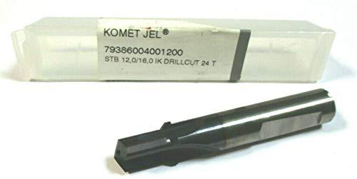 LEBONDO - 1 Stück Vollhartmetall - Stufenbohrer 90° JEL STB Ø12,0 auf Ø16,0 mm DRILLCUT 24 T mit Innenkühlung - original von KOMET