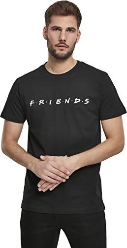 MERCHCODE Friends - Camiseta para Hombre con Logotipo de la Serie, Hombre, Camiseta, MC350, Negro, Medium
