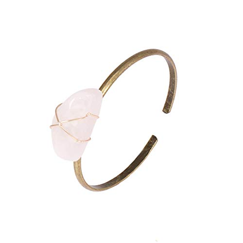 guodong Gemstone Bracelet Retro Style Copper Jewelry Hand Ring Handmade European and American High-End Hand Jewelry