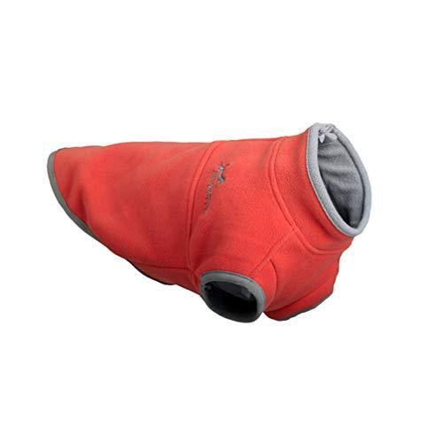 Balacoo hundepullover-Fleece kleine hundeweste Geschirr Kleidung Herbst Winter kaltes Wetter Pullover Jacke pet Pullover für kleine mittelgroße Hunde orange-Size XL