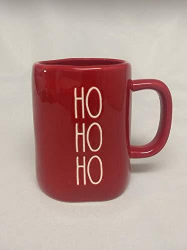 Rae Dunn By Magenta HO HO HO Red Ceramic LL Christmas Coffee Tea Mug