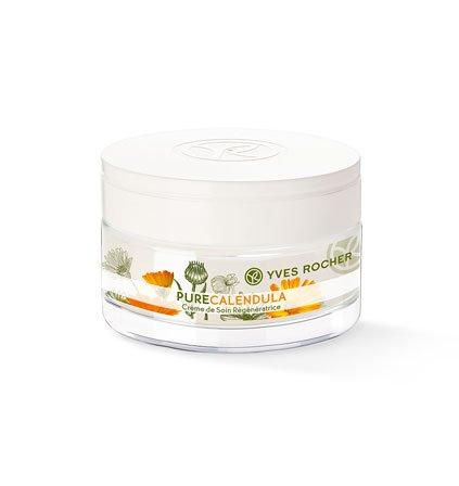 Yves Rocher – pure calendula (50 ml): Regenerierende Gesichtscreme (Tagescreme/Nachtcreme) für jeden Hauttyp geeignet