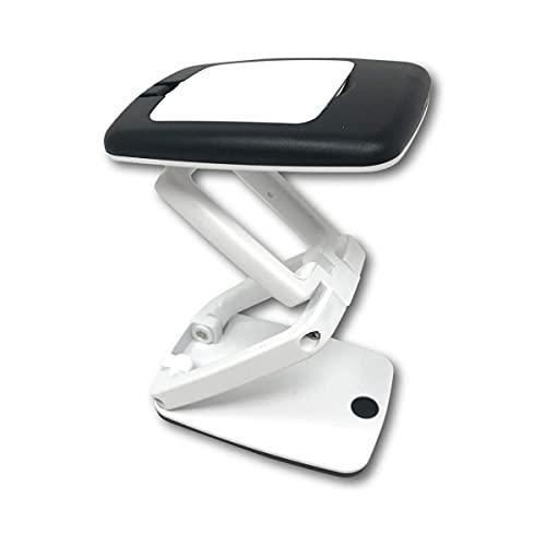 Crafters Dream Lámpara de escritorio compacta, color blanco y negro, aumento X3.