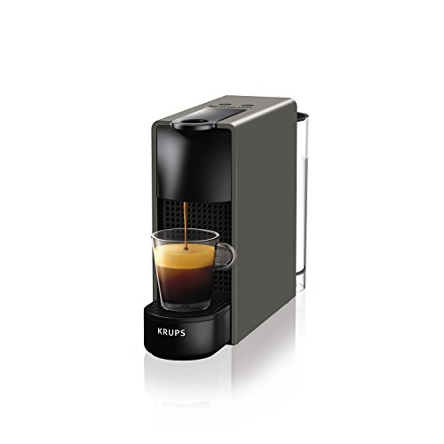 Nespresso by Krups Essenza Mini Coffee Machine with Aeroccino, Plastic, 1200 W, 0.6 Litres Volume Capacity, Grey