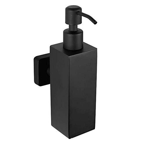 WOMAO Seifenspender Schwarz Matt Wandmontage Dusche Shampoospender Wandbefestigung Edelstahl an die Wand für Küche Badezimmer