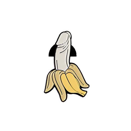 peng banaan broche creatief Tricky grappige leuke badge tas rugzak fruit pinnen sieraad pin vrouwen mannen student revers cartoon email corsage mode geschenken denim jas