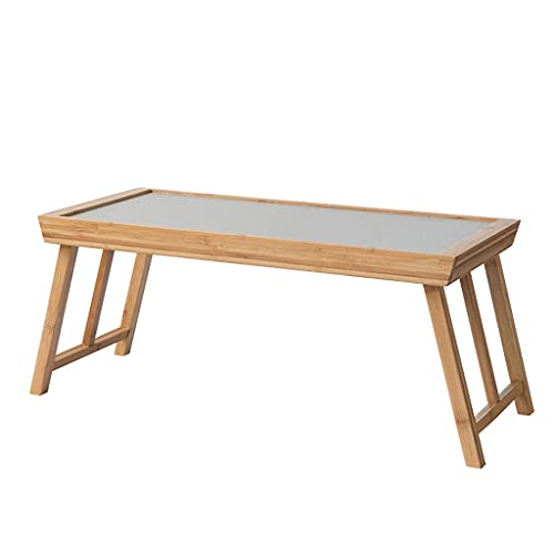 Mesa de Café Mesa de Salón Mesa de centro de té de bambú natural cama de mesa industrial mesa de cóctel plegable mesa de almacenamiento mesa sala de estar oficina al aire libre camping mesa Mesas Late