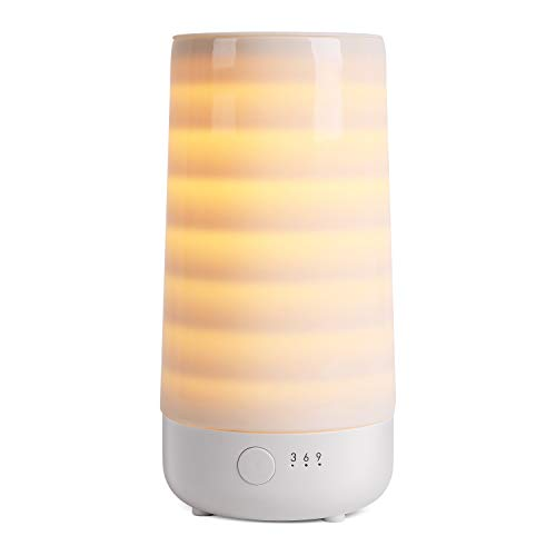 Ceramic Wax Melt Warmer, Electric Wax Melter and Scent Diffuser with Silicone Tray and Automatic Timer, 100% Safe, No Flame, Wick or Soot, Decorative Modern Design, The Tranquil Stripe