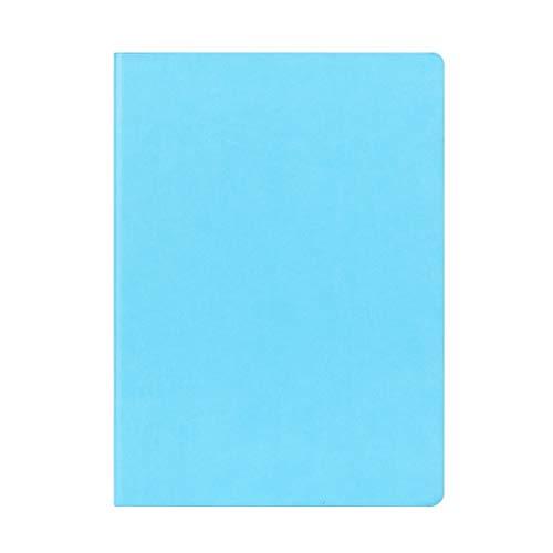 hsj Cuaderno ordenado simple grueso y exquisito cuaderno de estudio, bloc de notas de oficina ordenado (color: azul, tamaño: 21 x 29,7 cm)