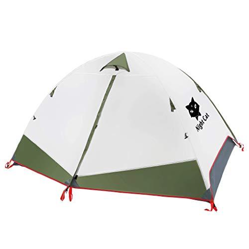 Night Cat Ruckzuck Zelt 2 Personen Mann Wasserdicht Zelt Leicht Camping Atmungsaktiv Einfache Einrichtungs für Outdoor Wandern Doppelschicht