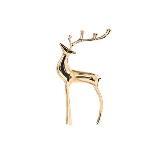 YANRUI Neue Chinesische Moderne Kupfer Deer Ornamente Büro Wohnzimmer TV Weinschrank Modell Zimmer Veranda Glück Weiche Dekorationen (Size : Small)