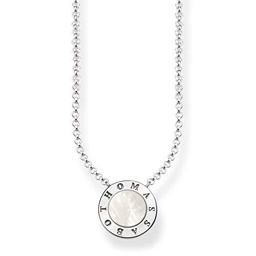 Thomas Sabo Damen-Collier Glam & Soul 925 Sterling Silber Perlmutt weiß Länge von 40 bis 45 cm KE1492-029-14-L45v
