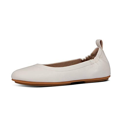 Fitflop Mädchen Allegro Ballerina-Leather Geschlossene Ballerinas, Weiß (Ss20 Jet Stream 031), 36 EU