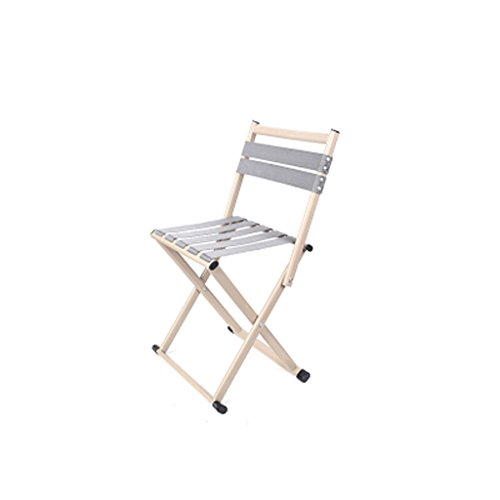 Tabouret De Fer Pliant Simple, Canapé D'étude Table Basse Chambre Chambre Dossier en Plein Air De Pêche Portable Chaise Élégant Tabouret (Color : Beige, Taille : Small)