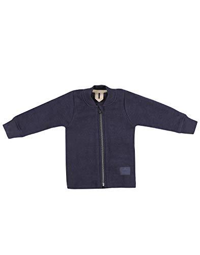 Dilling Babyjacke aus Wollfleece - 100% Merinowolle Blau 74