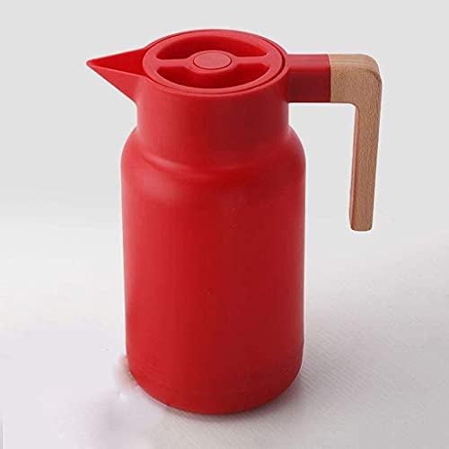 SHYOD Frascos de vacío de Vidrio Aislamiento TERMOS 1L HOGAR Grande HOBIO DE Agua Caliente HETTLE Oficina Oficina CAFETE Termal WEADER BOTERS Doble Pared (Color : Red)