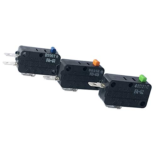 LONYE WB24X10103 & 3B73361E & SZM-V16-FD-63 Microwave Door Switch Replacement for GE Microwave SZM-V16-FA-61 SZM-V16-FA-62