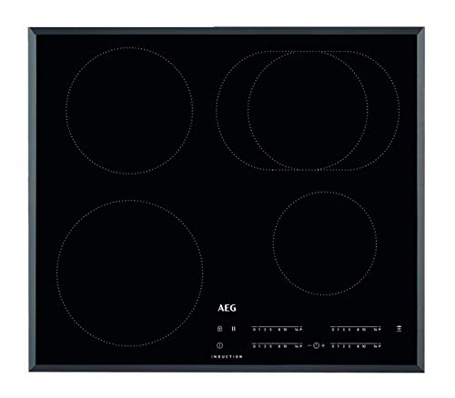 AEG IKB64411FB Autarkes Kochfeld / Induktion / Hob²Hood / Slider-Bedienung / 60 cm / Facetten-Design / 4 Kochzonen / Powerfunktion / Kindersicherung