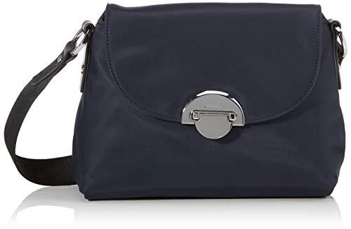 Bogner Damen Schultertasche Klosters Annie aus Nylon Handtasche mit Ãœberschlag ,Blau (Darkblue) ,13x17x24 cm (W x H x L)
