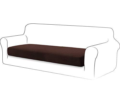 TIANSHU High Stretch Kissenbezug Sofakissen Schonbezug Möbelschutz Sofasitzbezug für Couch 1-teilige Kissenbezüge für 3 Sitzer (3 Sitzer, Schokolade)
