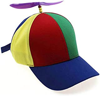 QOHNK Parent Child Multicolor Propeller Baseball Hat Outdoor Sun Hat with Visors