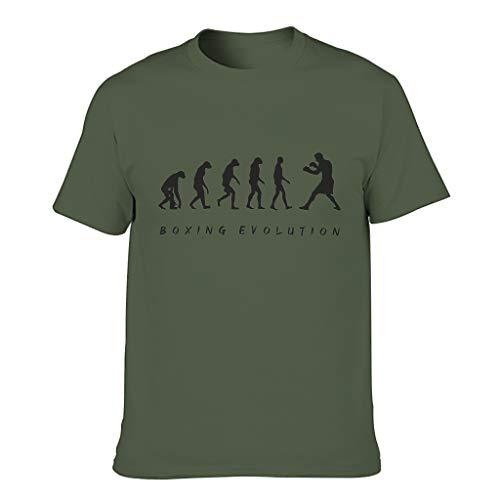 Ginald Camiseta de algodón para hombre, diseño de evolución de boxeo