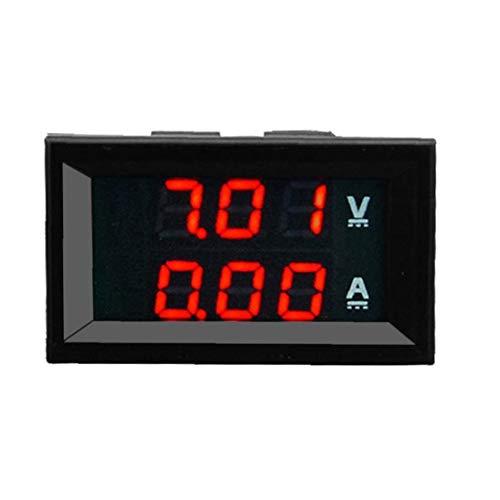 xiaocheng Medidor Led Rojo 10a 100v DC Digital Amperímetro del Voltímetro del Azul + del Metro De Voltio Amperios para Los Entusiastas del Bricolaje Industrial