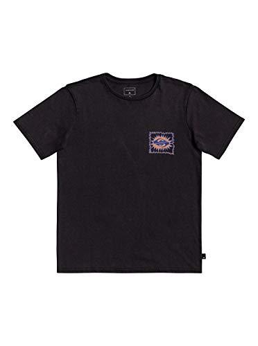 Quiksilver Quiet Temple - Camiseta de manga corta para niño - negro - Medium