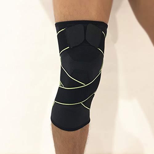 Outdoor-sporten voor mannen en vrouwen, elastische druk, universeel, antislip, kniebeschermer, beenbescherming van nylon, fitness, klimmen, antislip, knieën