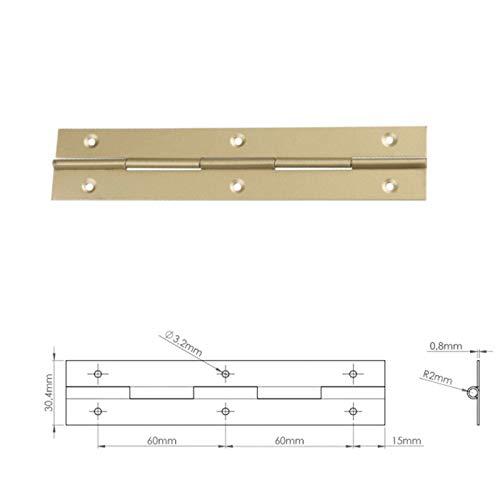 BMF Direct - Bisagras de metal para piano (2 unidades, 1 m, 1000 mm), varios colores