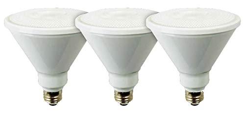 TCP RLP389030ND3 LED Floodlight 90 Watt Equivalent, PAR38 Shape, Outdoor Flood Light Bulbs, 3 Pack, Bright White (3000K), 3 Count