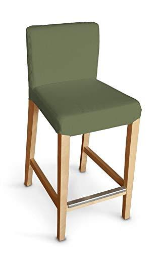 Dekoria Henriksdal Husse für Barhocker Husse Stuhlbezug,Stuhlkissen passend für IKEA Modell Henriksdal grün