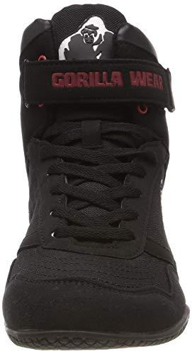 Gorilla Wear High Tops Black schwarz - Bodybuilding und Fitness Schuhe für Damen und Herren, EU 44