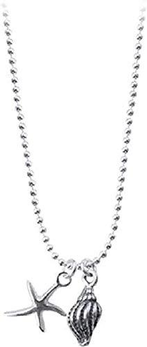 YUNQIYZH Co.,ltd Diseño de Collar Linda Estrella de mar Joyería de Personalidad Conch Star Colgante Collar Colgante Collar Regalo para niños Colgante Collar Niñas Niños Regalo