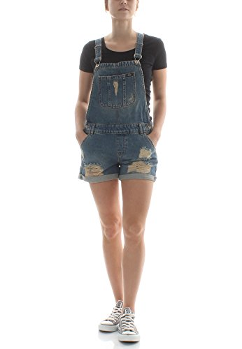 Superdry Latzhose Damen Acid Dungaree Boyshort Acid Blue, Größe:XS