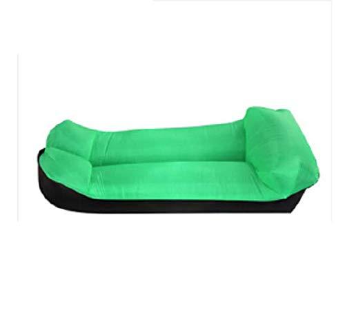 Sofá hinchable a prueba de agua y antifugas de aire, sofá ideal para patio trasero, playa, viajes, camping, pícnics, sacos de compresión (verde, cama)