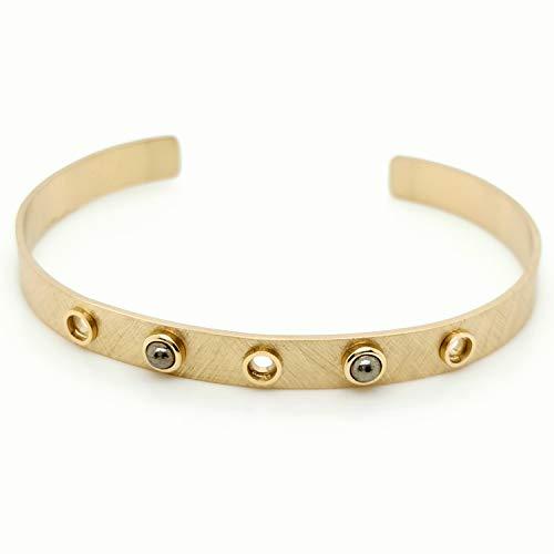 Armband Zag doré cuivre Bruin - Goud Koper Bruin - Pyriet