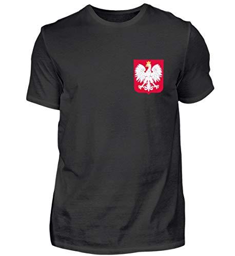 Hochwertiges Herren Shirt - Polen Trikot Emblem Wappen Polnische Flagge Polska Adler Fahne Geschenk