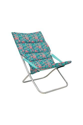 Mountain Warehouse Weich gepolsterter Klappstuhl - leichtes Camping-Möbel, robust, mit abwischbarem, tragbaren Sitz - für Picknicks, Garten, Außenaktivitäten Blaugrün